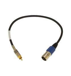 "[LY-XMRS] XLR Male to RCA Male S/PDIF 18"" Adapter Cable"