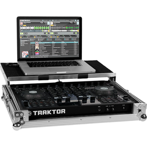[NI-S4FC] Sturdy flight case for the Traktor S4 + laptop stand.