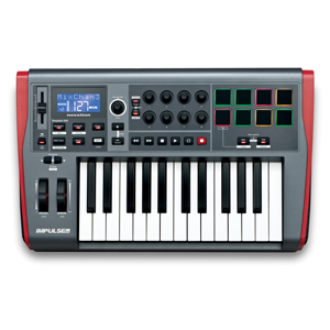 [NV-I25] ReMOTE USB MIDI controller KB 2 Octave, precision semi-weighted, back-lit drum pads includes Automap 4