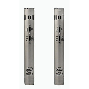 [PE-CEMC6SK] Matched Stereo Pair of Solid State Pencil Condenser Microphones with removable capsules