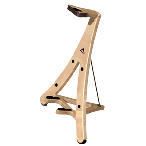 [US-AXW1] AXCEL Series One-piece, Foldable Wood Guitar Stand with Maple Finish