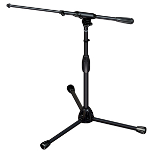 [US-TTST] Tour Series Mic Stand with Black Chrome Finish, Modular Base Design, and Quarter-turn Clutch - Tripod Base/Short Height/Telescoping Boom