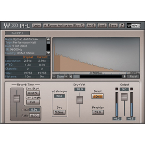[WAV-IR-L] Convolution Reverb plug-in, a simplified version of IR1